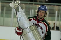 Captain Matt Shasby bringing home the cup!