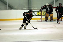 Clearing the puck